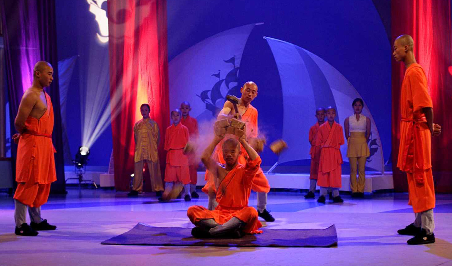 Shaolin-Monks-On-Blue-Peter-BBC1